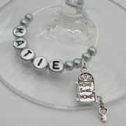 Home Sweet Home Personalised Wine Glass Charm